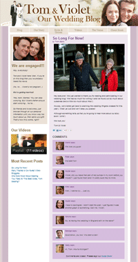 Custom WordPress Site Tomandviolet.com Developed by MWS Media - Screen Shot