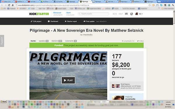 Pilgrimage Crowdfunding Campaign Screenshot