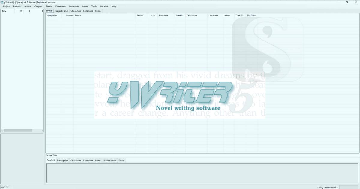 yWriter: A Free Alternative To Scrivener